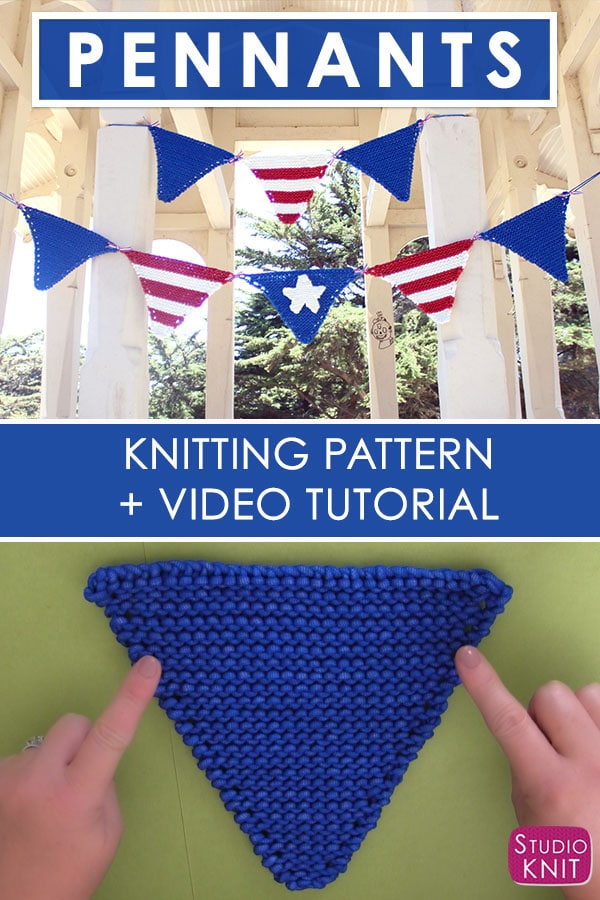 Patriotic Decor for July 4th - Pennant Banner Tutorial by Studio Knits