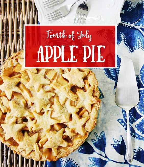 Patriotic Projects for July 4th - July 4th Apple Pie Recipe by Thistlewood Farms