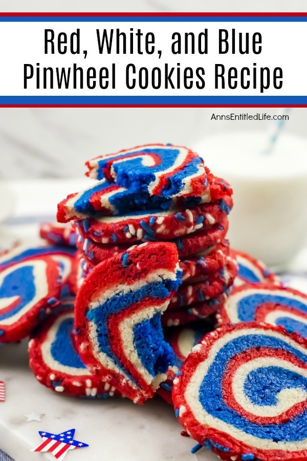 Patriotic Projects for July 4th - July 4th Red White and Blue Patriotic Pinwheel Cookie