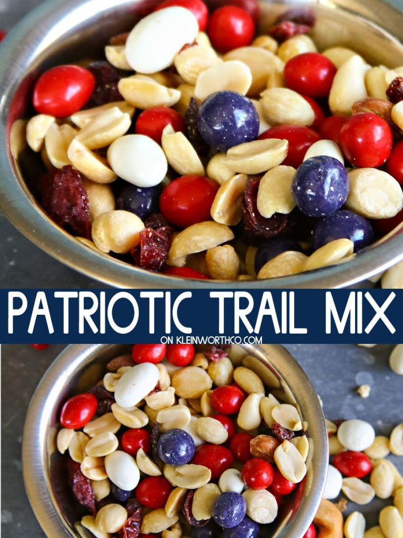 Patriotic Projects for July 4th - Patriotic Trail Mix Recipe by Kleinworth & Co