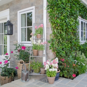 Unique Container Garden Ideas for your Porch or Patio - Baskets for Planters by Sanctuary Home Decor