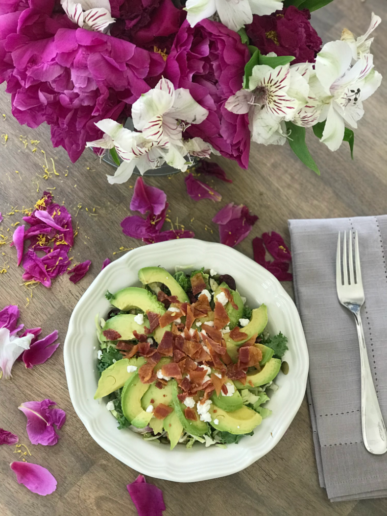 80+ Best Summer Recipes - Avocado Bacon Salad by Home Stories A to Z
