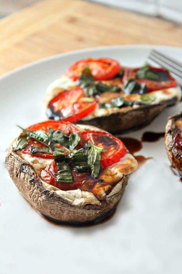 80+Best Summer Recipes - Caprese Stuffed Portobello Mushrooms by Wonder Mom Wannabe