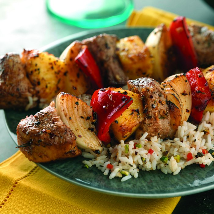 80+ Best Summer Recipes - Caribbean Pork Kabobs Recipe by Mommy Evolution