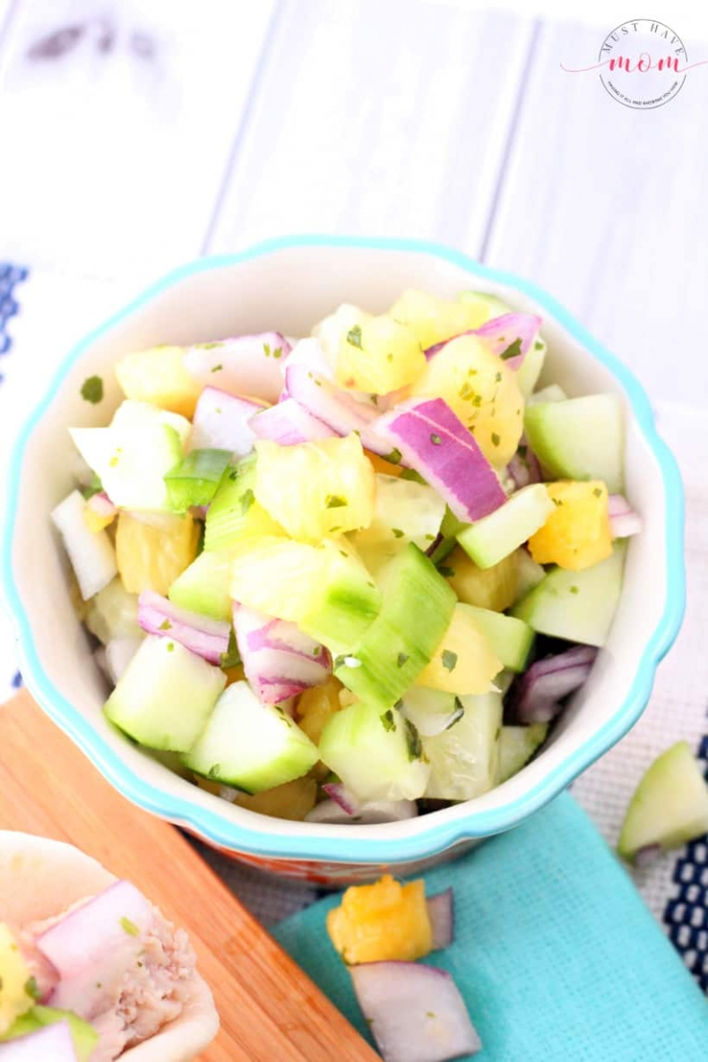 80+ Best Summer Recipes - Fresh Pineapple Salsa by Must Have Mom