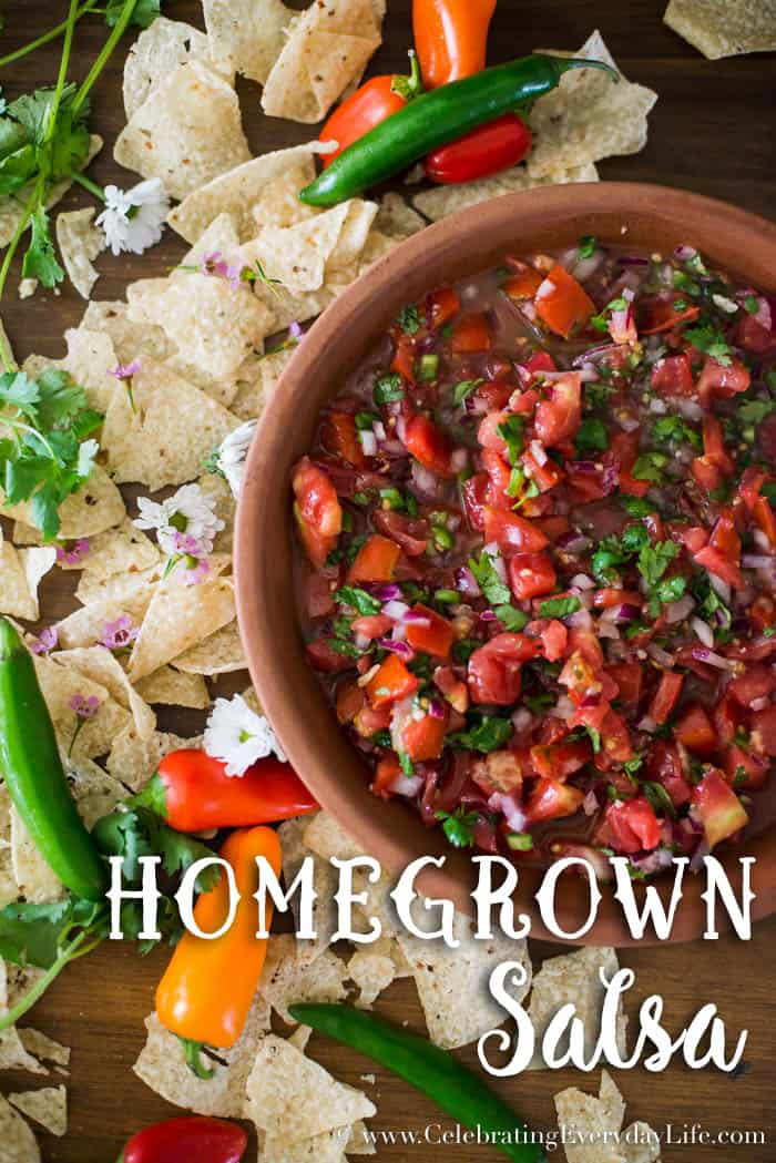 80+ Best Summer Recipes - Homegrown Salsa by Celebrating Everyday Life