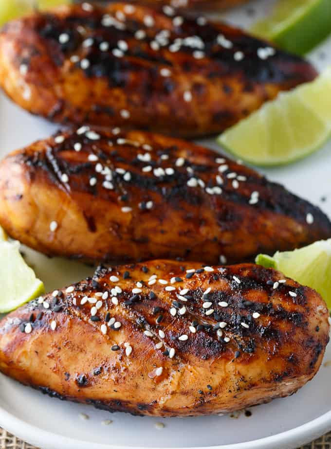 80+ Best Summer Recipes - Honey Sriracha Chicken by Simply Stacie