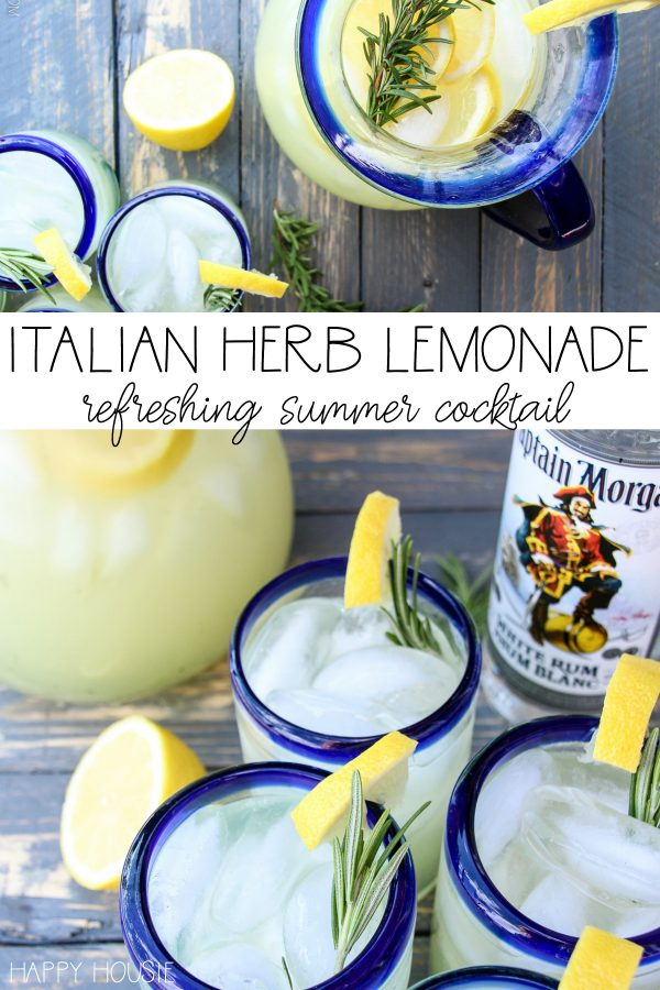 80+ Best Summer Recipes - Italian Herb Lemonade by Happy Housie