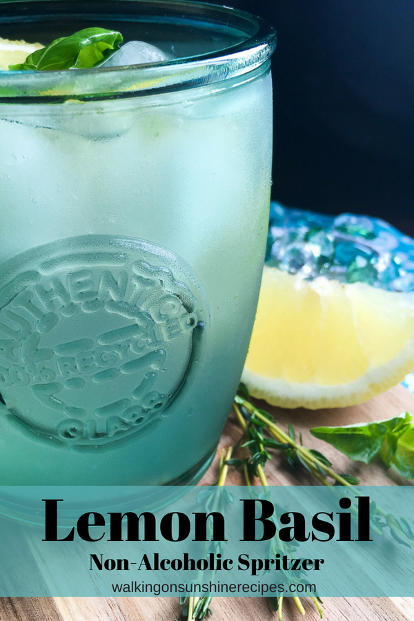 80+ Best Summer Recipes - Lemon Basil Mint Spritzer by Walking on Sunshine
