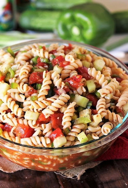 80+ Best Summer Recipes - Ma's Picnic Pasta Salad by The Kitchen is My Playground