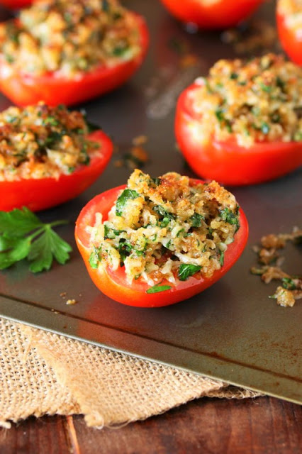 80+ Best Summer Recipes - Parmesan Broiled Tomatoes by The Kitchen is My Playground