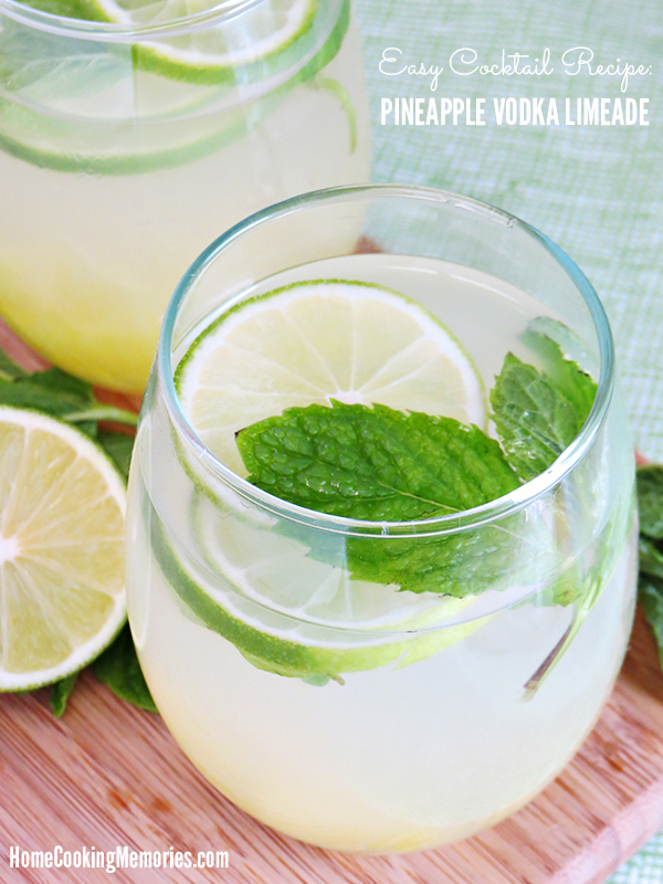 80+ Best Summer Recipes - Pineapple Vodka Limeade Recipe by Home Cooking Memories