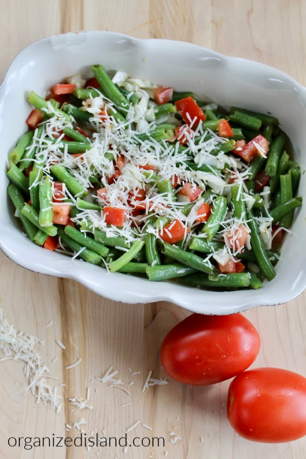 80+ Best Summer Recipes - Simple Cold Green Bean Salad by Organized Island