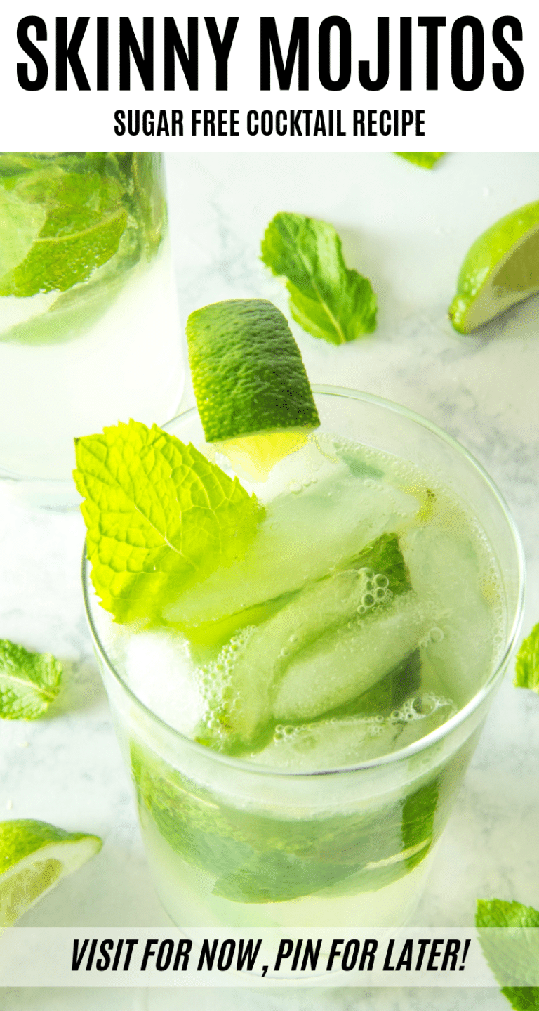 80+ Best Summer Recipes - Skinny Keto Friendly Mojito by Live Love Texas