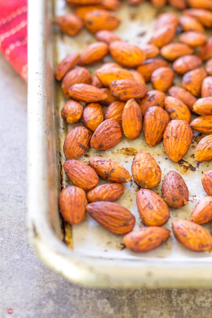 80+ Best Summer Recipes - Smoked Paprika Almonds with Bacon by Take Two Tapas