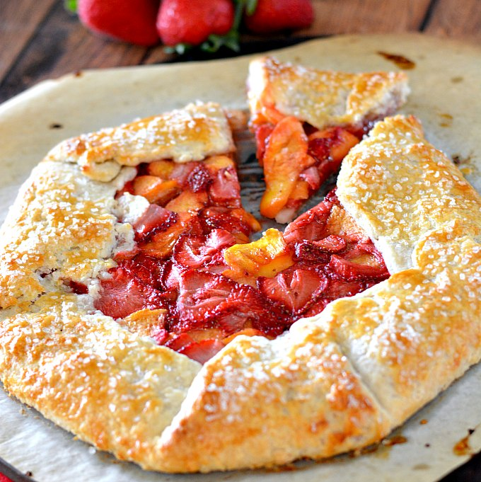 80+ Best Summer Recipes - Strawberry and Peach Crostata by Growing Up Gabel