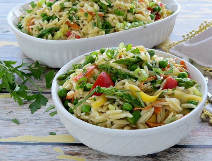 80+ Best Summer Recipes - Summer Pasta Salad with Lemon Vinaigrette by 5 Minutes for Mom