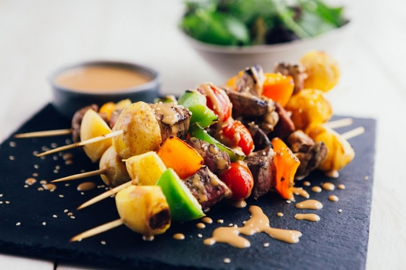 80+ Best Summer Recipes - Tasty Grilled Cornish New Potato and Steak Skewers by Clarie's World