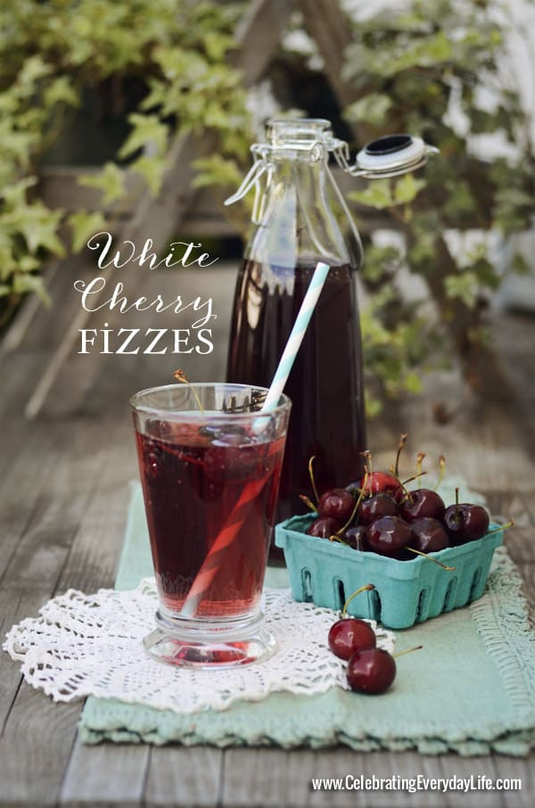 80+ Best Summer Recipes - White Cherry Fizzy by Celebrating Everyday Life