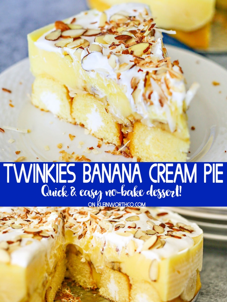 Best Summer Pie Recipes - Twinkies Banana Cream Pie by Kleinworth & Co