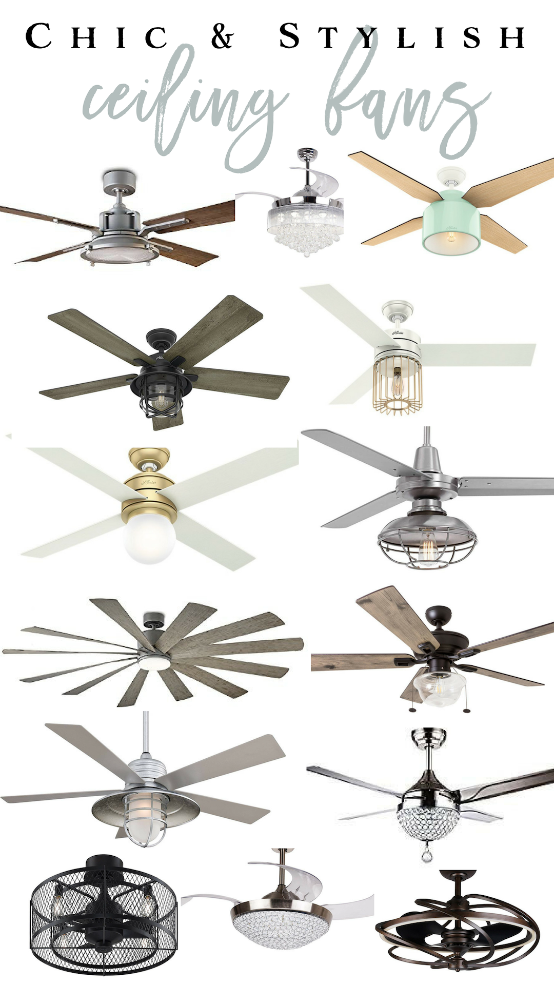 Chic and stylish ceiling fans