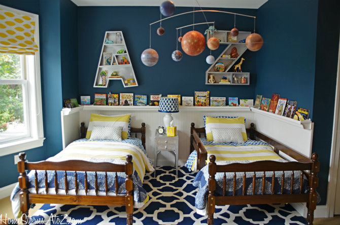 Gorgeous Blue Bedroom Decor Ideas - Boys Bedroom by Home Stories A to Z
