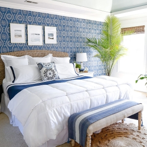 Gorgeous Blue Bedroom Decor Ideas - Coastal Blue Master Bedroom Makeover by Sand & Sisal