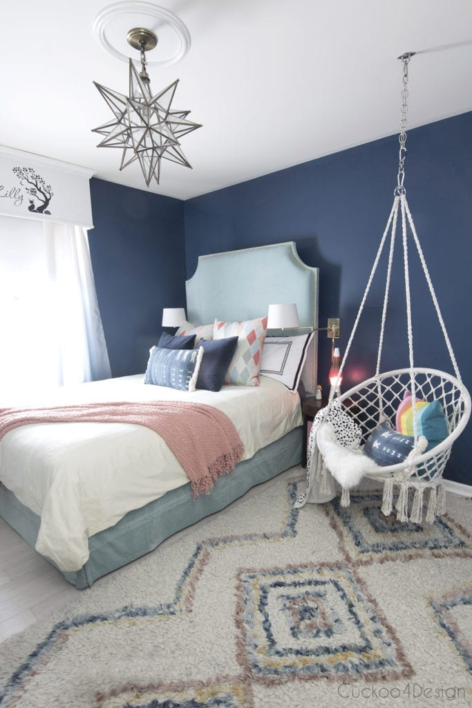 innovative blue white bedroom ideas teenage girls | BEAUTIFUL BLUE BEDROOM DECOR IDEAS