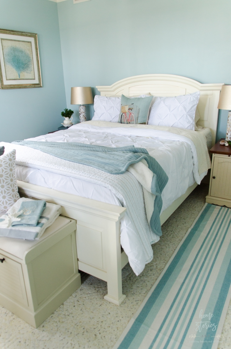 Gorgeous Blue Bedroom Decor Ideas - Guest Bedroom Makeover by Home Stories A to Z