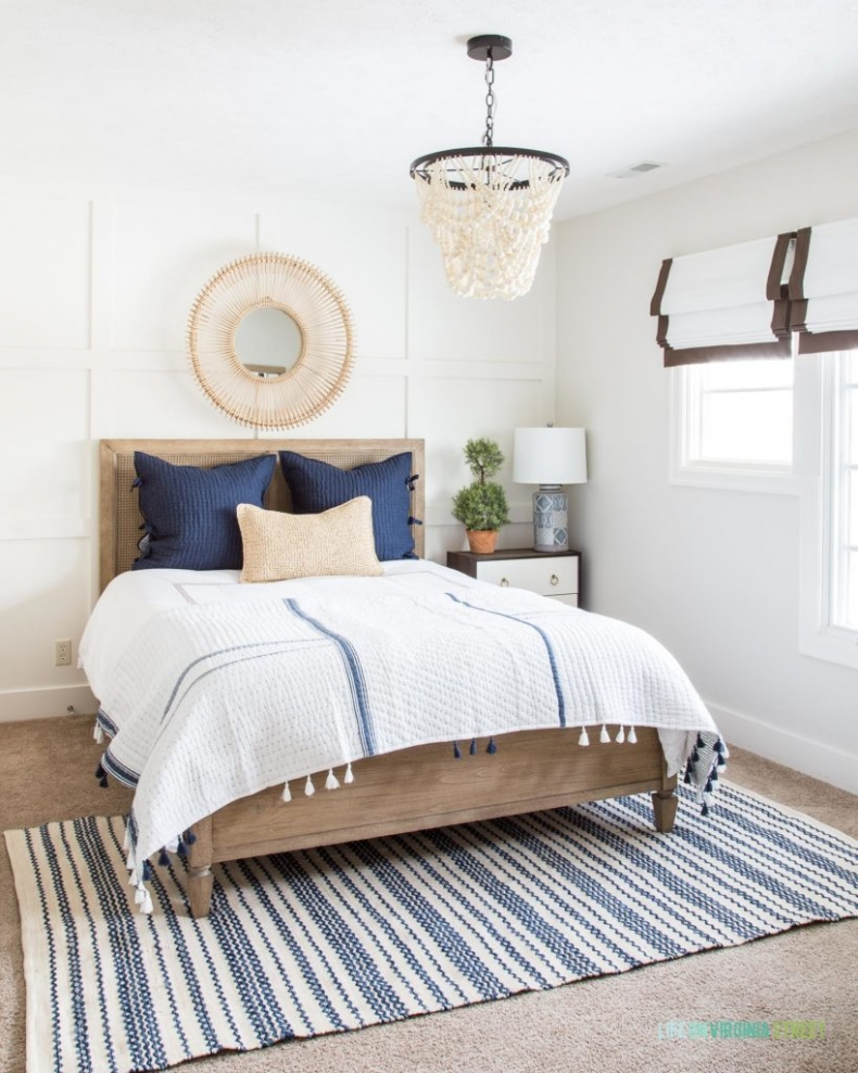 Gorgeous Blue Bedroom Decor Ideas - Guest Bedroom Spring Refresh by Life on Virginia Street