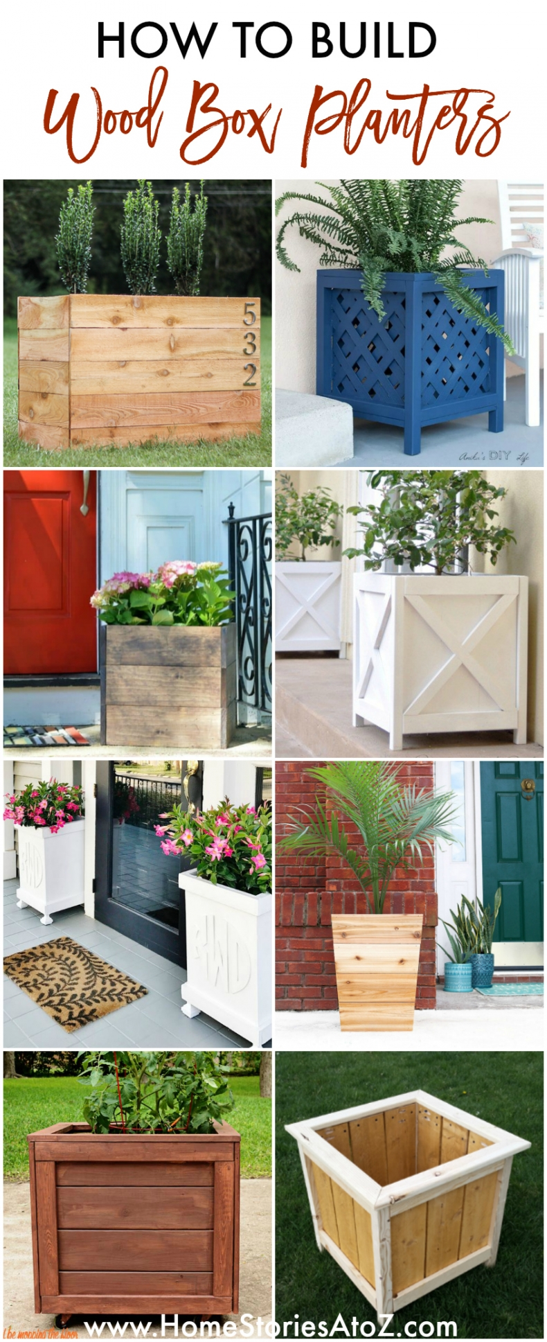 How to Build Wood Box Planters - Great Tutorials and Ideas - Home Stories A to Z