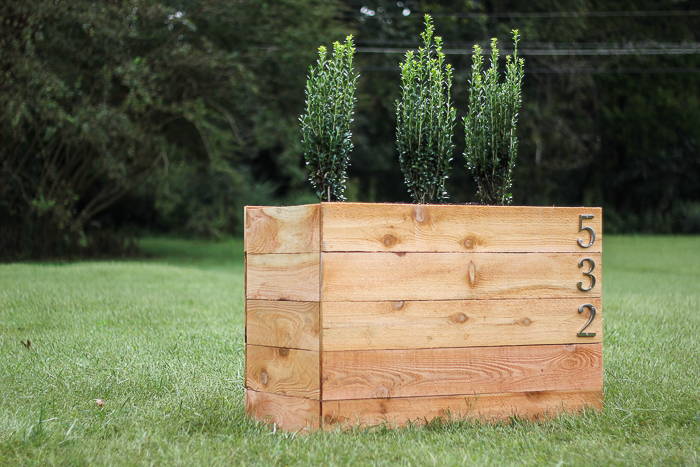 How to Build a Wooden Planter - DIY Cedar Planter Box Plans by Rain on a Tin Roof