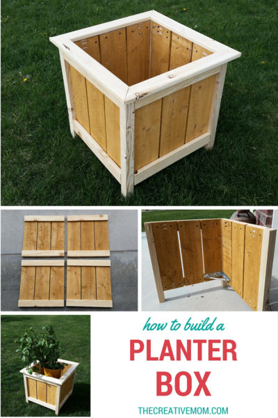 How to Build a Wooden Planter - How to Build a Wooden Planter Box by The Creative Mom