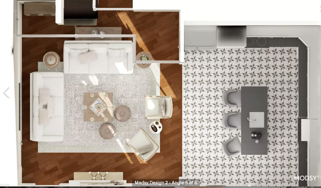 living room neutral space plan