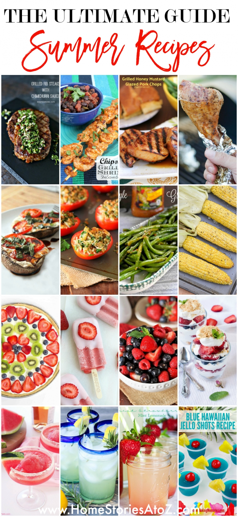 The Ultimate Guide to Summer Recipes - 80+ Best Summer Recipes - Entrees, Appetizers, Salads, Desserts, and Drinks!