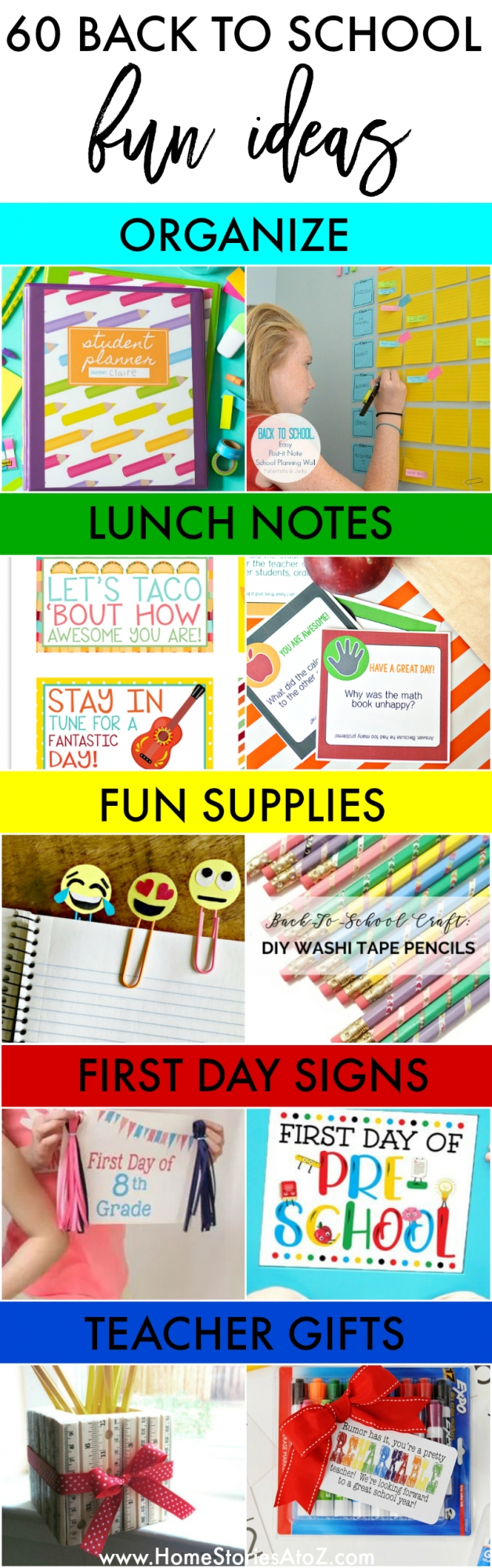 60 Fun Ideas for Back to School