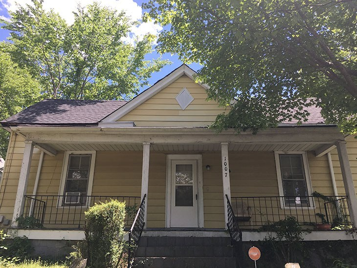 Affordable Home Exterior Renovations - 1900's Total Home Renovatoin AFTER by Pretty Handy Girl
