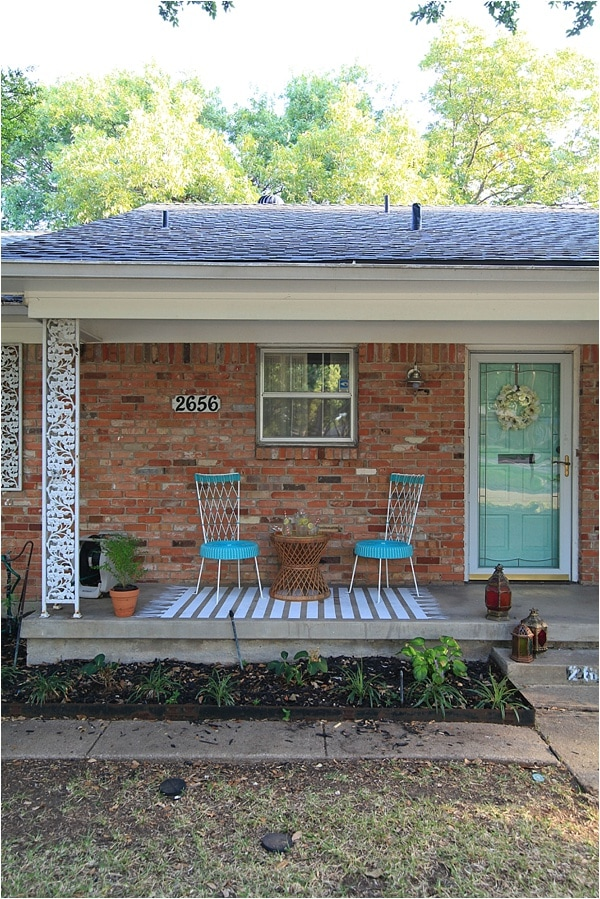 Affordable Home Exterior Renovations - Concrete Patio Makeover by Run to Radiance
