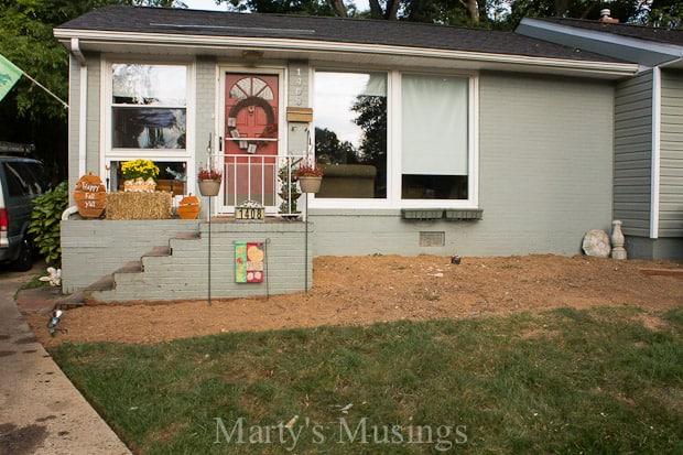 Affordable Home Exterior Renovations - Improving Curb Appeal Deck Reveal by Marty's Musings