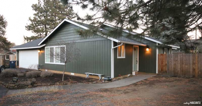 Affordable Home Exterior Renovations - Paint My House Exterior Tips AFTER pic by Making Manzanita
