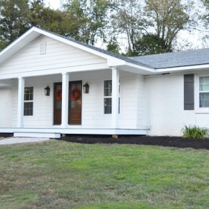 Affordable Home Exterior Renovations - Small Home Renovation AFTER by Beneath My Heart