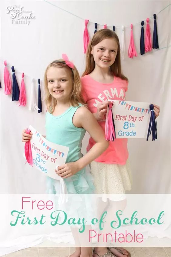 Back To School Fun Ideas - Back to School Printable by The Real Coake