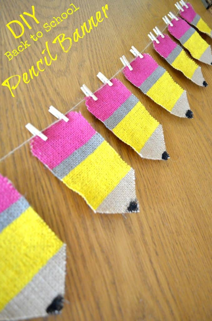 Back to School Fun Ideas - Back to School Pencil Banner by Surviving a Teachers Salary