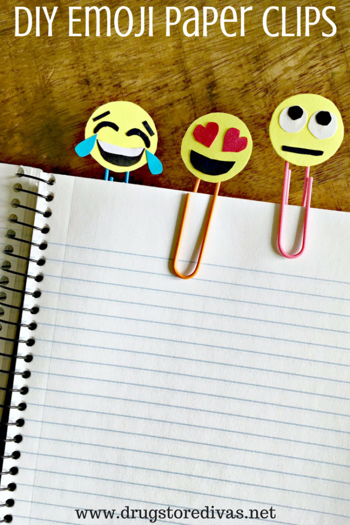 Back to School Fun Ideas - DIY Emoji Paper Clips by Drug Store Divas
