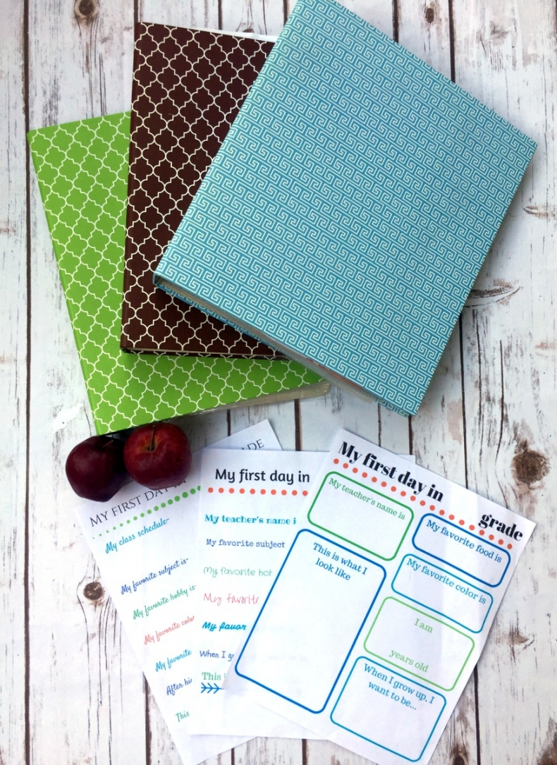 Back to School Fun Ideas - DIY School Memory Book Free Printable by The Crafty Blog Stalker