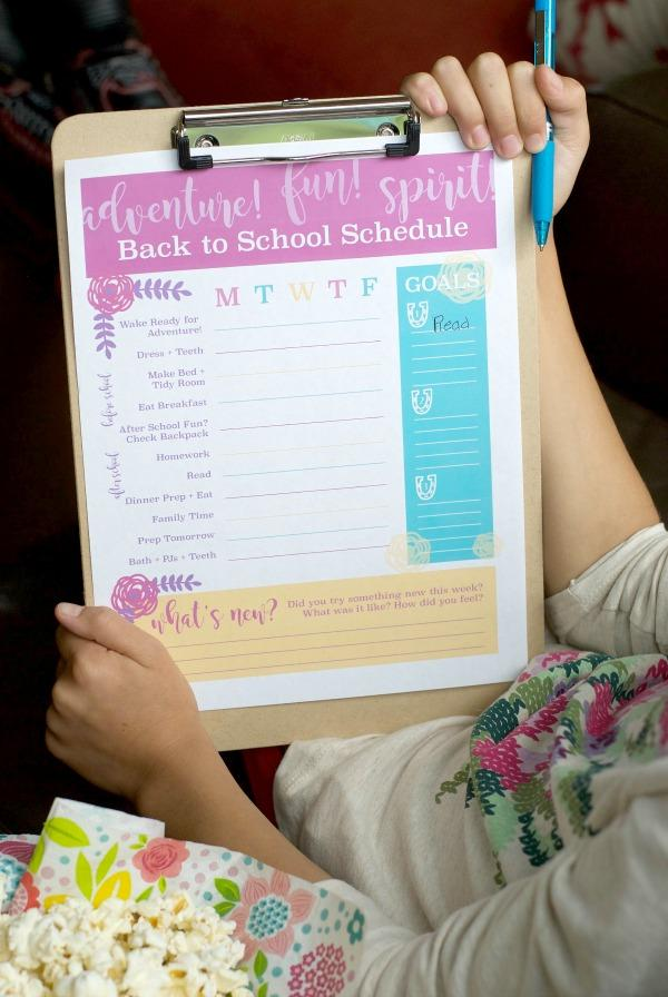 Back to School Fun Ideas - Free Printable Schedule by Satsuma Designs