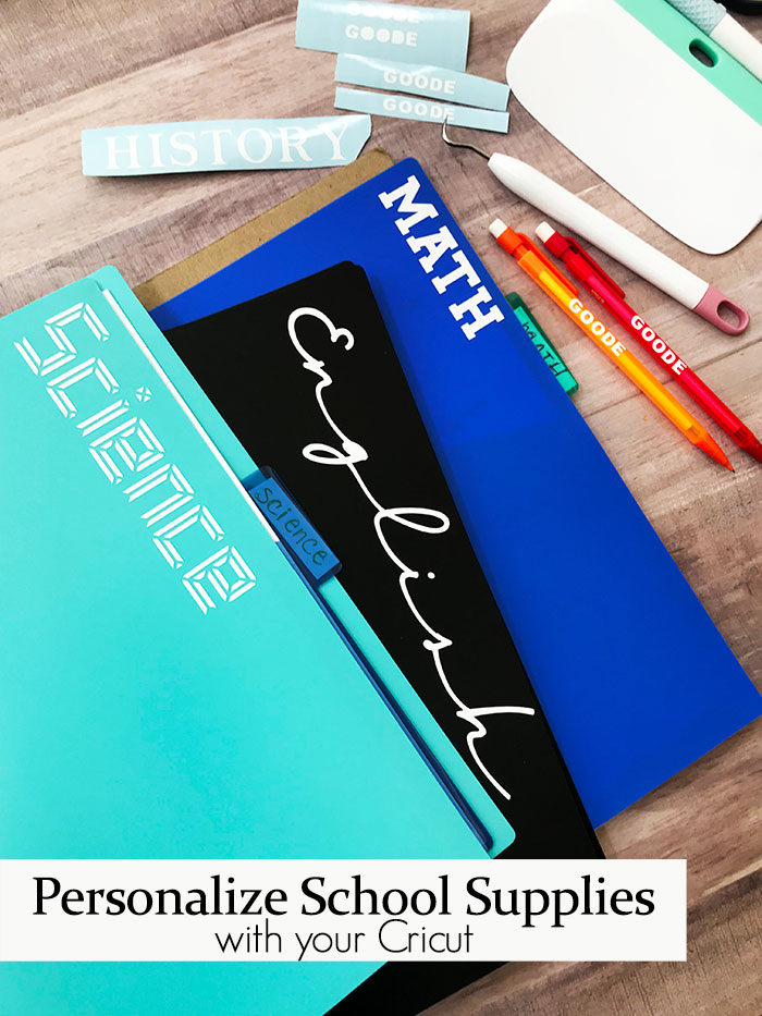 Back to School Fun Ideas - Labeling and Organizing School Supplies by The Country Chic Cottage