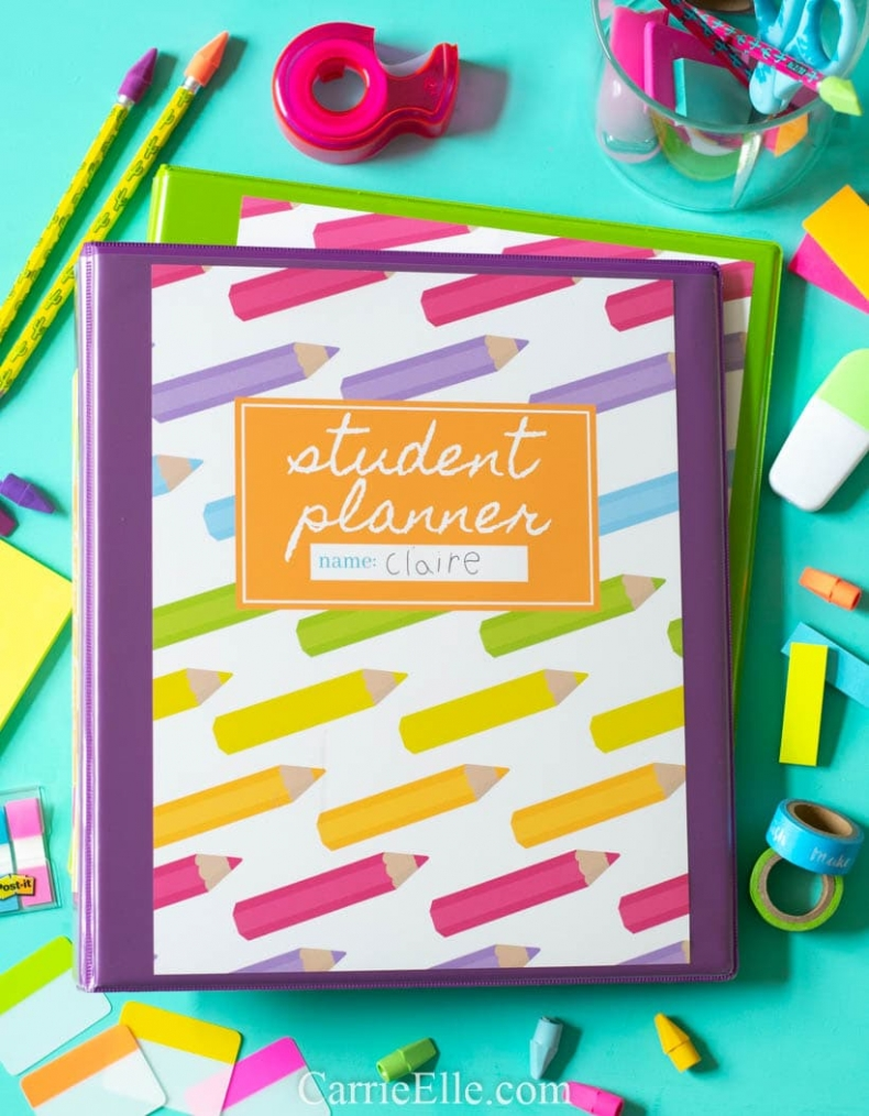 Back to School Fun Ideas - Printable Student Planner by Carrie Elle