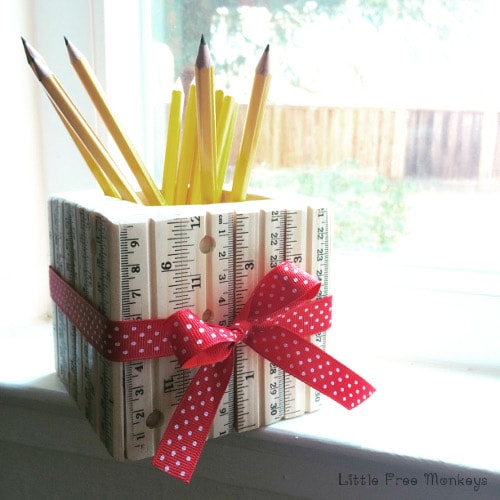 Back to School Fun Ideas - Ruler Pencil Holder by Anika's DIY Life
