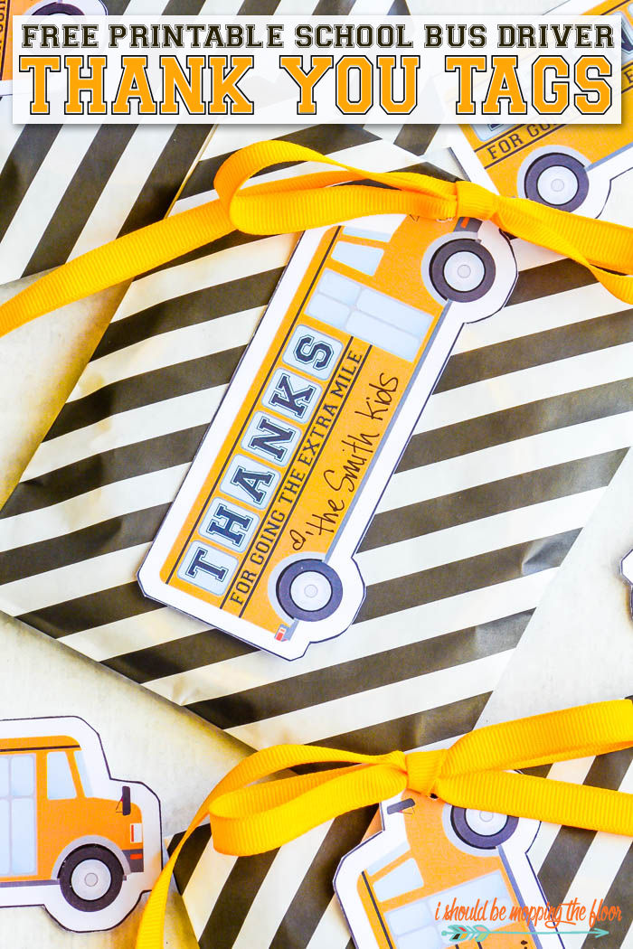 Back to School Fun Ideas - School Bus Driver Printable by I Should be Mopping the Floor
